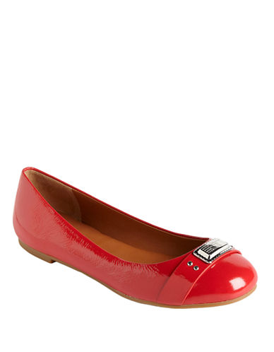 MARC BY MARC JACOBS Patent Leather Logo Ballet Flats