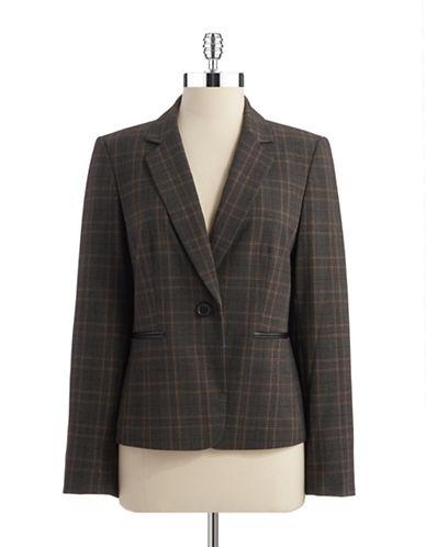 TAHARI ARTHUR S. LEVINEPlaid Single Button Blazer