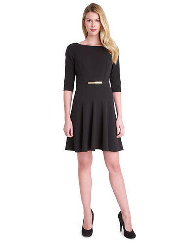 TAHARI ARTHUR S. LEVINEPetite Ella Belted A Line Dress