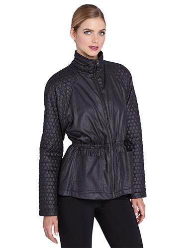 CATHERINE CATHERINE MALANDRINOFaux Leather Blouson Jacket