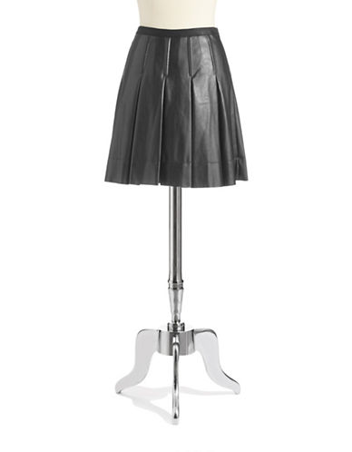 CATHERINE CATHERINE MALANDRINOPleated Faux Leather Skirt
