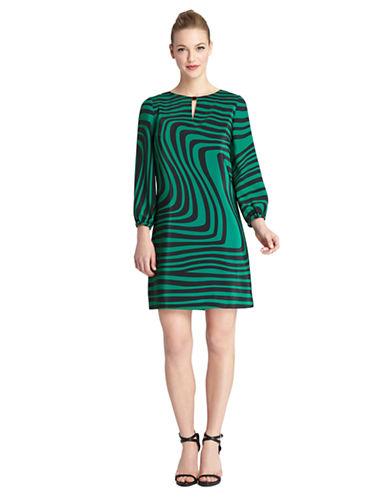 TAHARI ARTHUR S. LEVINEElton Wavy Stripe Shift Dress