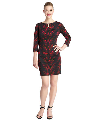 TAHARI ARTHUR S. LEVINE Charlie Geo Print Sheath Dress
