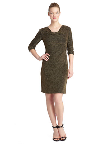 TAHARI ARTHUR S. LEVINEPlus Sparkle Knit Sheath Dress