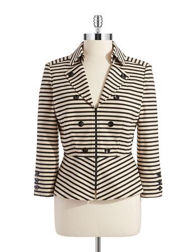 TAHARI ARTHUR S. LEVINEStriped Zip Up Jacket