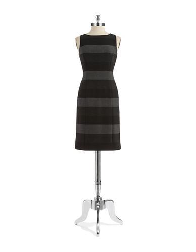 TAHARI ARTHUR S. LEVINEStriped Sheath Dress