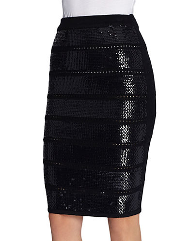 CATHERINE CATHERINE MALANDRINOConchata Sequined Knit Pencil Skirt