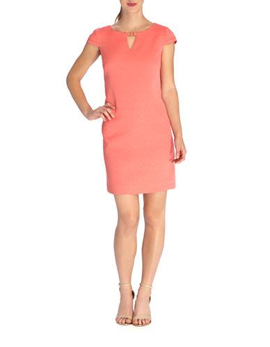 Shop Tahari Arthur S. Levine online and buy Tahari Arthur S. Levine Diamond Jacquard Shift Dress dress online