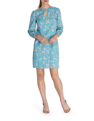 TAHARI ARTHUR S. LEVINEAbstract Print Shift Dress