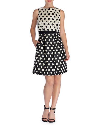 TAHARI ARTHUR S. LEVINEDotted Popover Dress