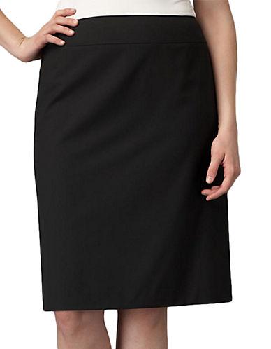 TAHARI ARTHUR S. LEVINEPlus Black Straight Skirt