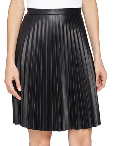 TAHARI ARTHUR S. LEVINEPetite Pleated Faux Leather Skirt