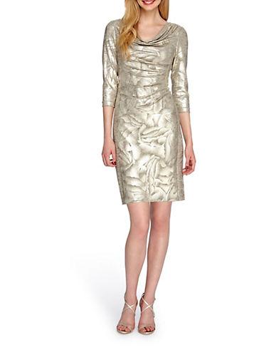 TAHARI ARTHUR S. LEVINEPlus Metallic Floral Sheath Dress