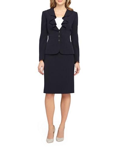 tahari arthur s levine female 236621 2piece ruffled jacket and skirt suit set