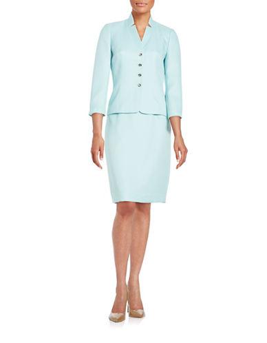 tahari arthur s levine female 201959 herringbone textured skirt suit