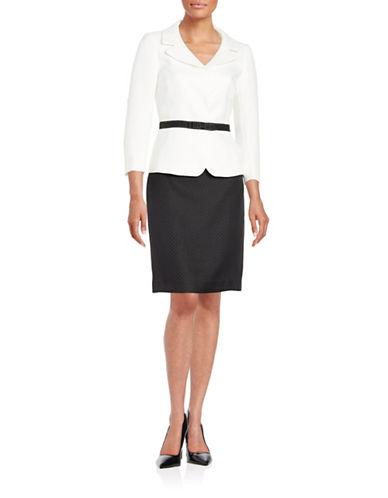 tahari arthur s levine female 188972 colorblocked skirt suit
