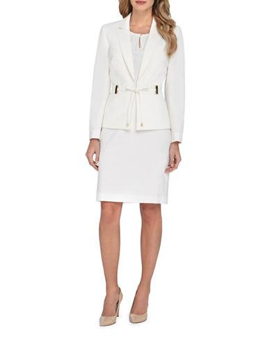 tahari arthur s levine female 266828 petite waisttie jacket and skirt suit