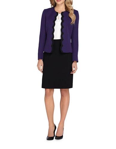 tahari arthur s levine female 248826 plus polka scalloped jacket and skirt suit