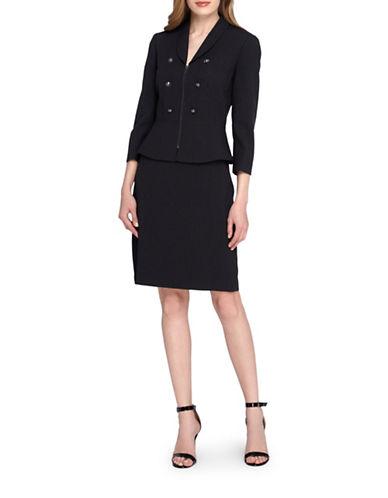 tahari arthur s levine female 188974 petite peplum jacket and skirt suit