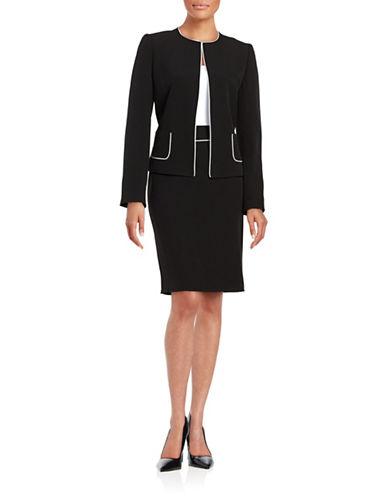 tahari arthur s levine female 188971 petite jacket and skirt suit set