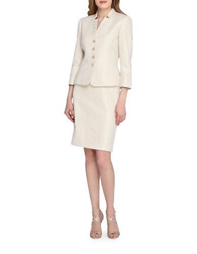 tahari arthur s levine female 123919 petite beaded star neck jacket and skirt suit