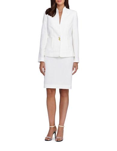 tahari arthur s levine female 233680 petite twopiece solid jacket and skirt suit set