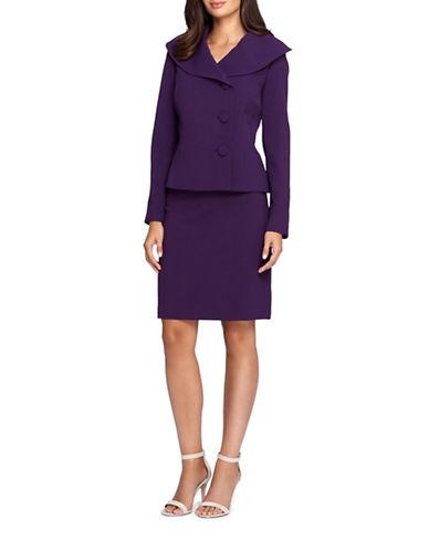 tahari arthur s levine female  petite threebutton front jacket and skirt suit