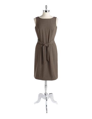 TAHARI ARTHUR S. LEVINESleeveless Belted Dress