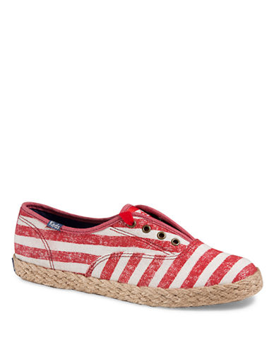 KEDS Champion Washed Stripe Jute Sneakers