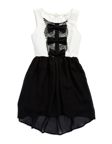 SOPHIA + ZEKEGirls 7-16 Bow Front Chiffon Dress