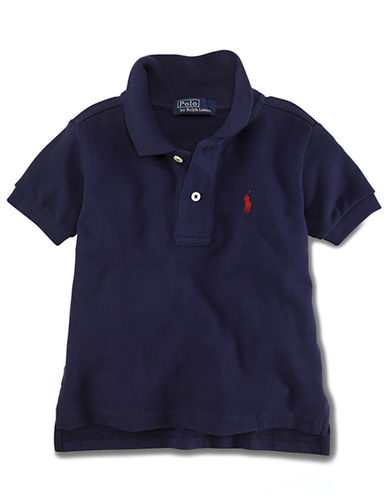 RALPH LAUREN CHILDRENSWEAR Baby Boys Short-Sleeved Mesh Polo