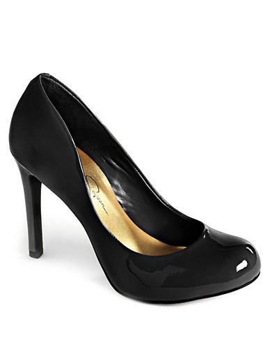 JESSICA SIMPSON Calie Patent Leather Platform Pumps