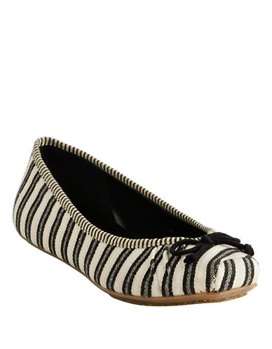 Jessica Simpson Leve Striped Ballet Flats