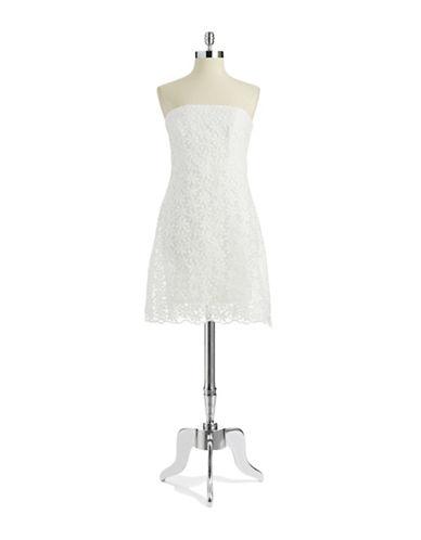 BELLE BY BADGLEY MISCHKAStrapless Lace Dress