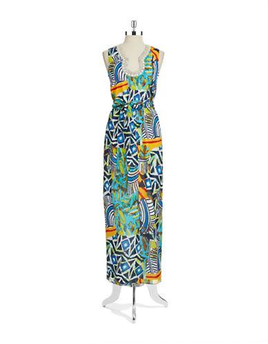 Shop Belle By Badgley Mischka online and buy Belle By Badgley Mischka Bead Accented Sheath Dress dress online