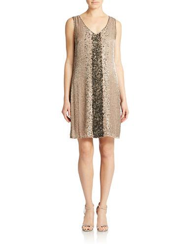 Belle By Badgley Mischka Embellished Shift Dress