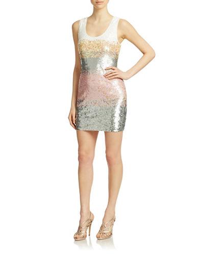BADGLEY MISCHKAOmbre Sequined Shift Dress