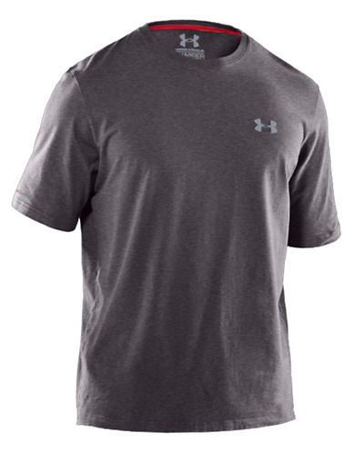 UNDER ARMOUR Cotton-Blend Short-Sleeve Workout Tee
