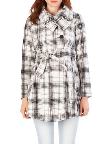 BB DAKOTAKinsie Wool Blend Plaid Printed Coat