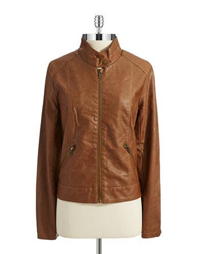 BB DAKOTAFaux Leather Bomber Jacket