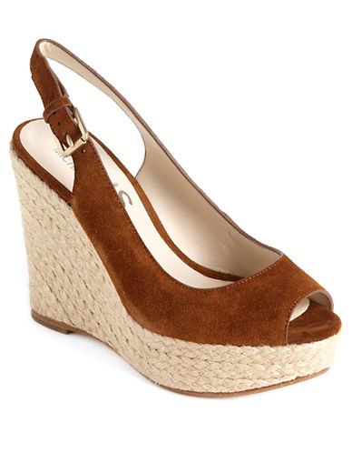 Keelyn Suede Platform Wedge Sandals