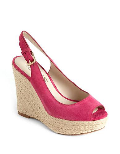 Keelyn Suede Platform Wedge Sandals