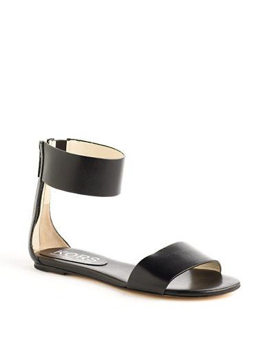 KORS MICHAEL KORSAva Leather Ankle Strap Sandals