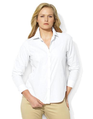 LAUREN RALPH LAURENPlus Cotton Poplin Shirt