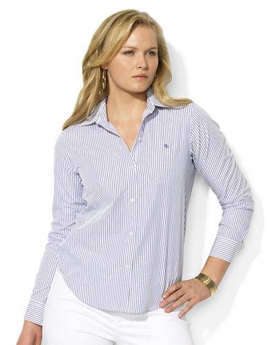 LAUREN RALPH LAURENPlus Long-Sleeved Classic Non-Iron Shirt