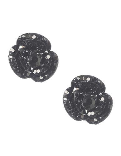 BETSEY JOHNSONBlack Flower Stud Earrings
