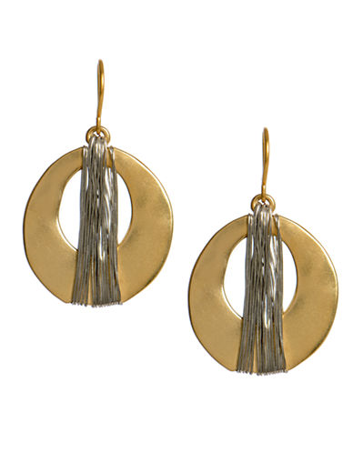 KENNETH COLE NEW YORKGold-Tone Wire Wrapped Oval Drop Earrings