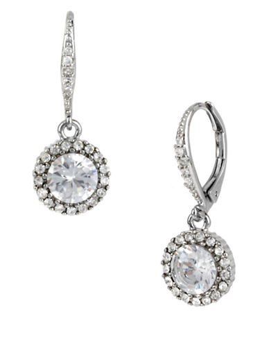 BETSEY JOHNSON Pave Crystal Drop Earrings