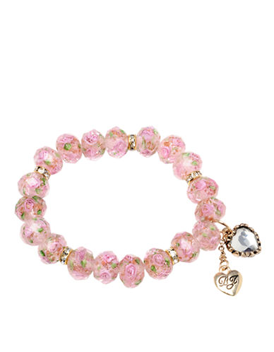 BETSEY JOHNSON Pink Stretch Bracelet