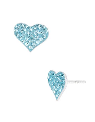 BETSEY JOHNSONBlue Heart Stud Earrings
